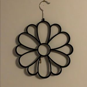 🍀3/$20 Belt/scarf velvet black display hanger
